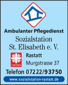 Anzeige Sozialstation St. Elisabeth e.V.
