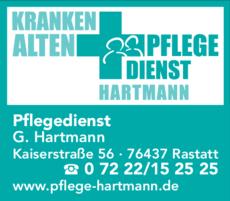 Anzeige Hartmann Altenpflege