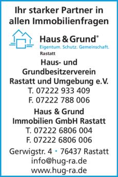 Anzeige Haus und Grund Immobilien GmbH