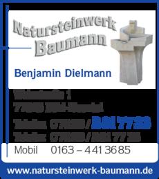 Anzeige Natursteinwerk Baumann