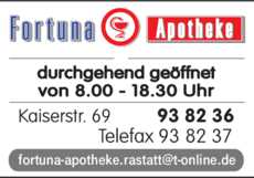 Anzeige Fortuna-Apotheke