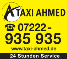 Anzeige Taxi Ahmed