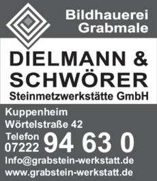 Anzeige Dielmann - Schwörer GmbH , Grabmale