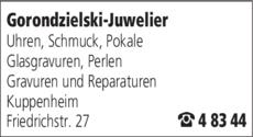 Anzeige Gorondzielski Juwelier