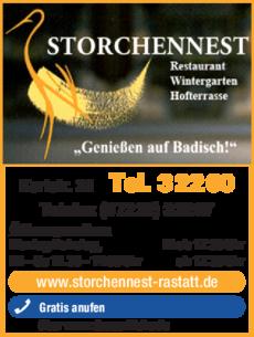 Anzeige Storchennest