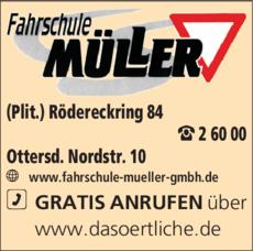 Anzeige Müller Fahrschule