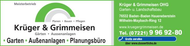 Anzeige Krüger & Grimmeisen OHG