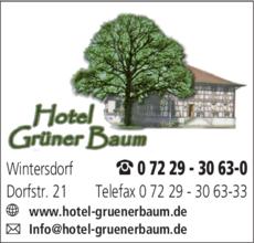 Anzeige Grüner Baum