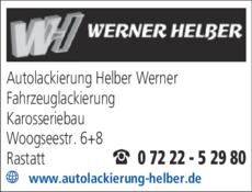 Anzeige Helber Autolackierung