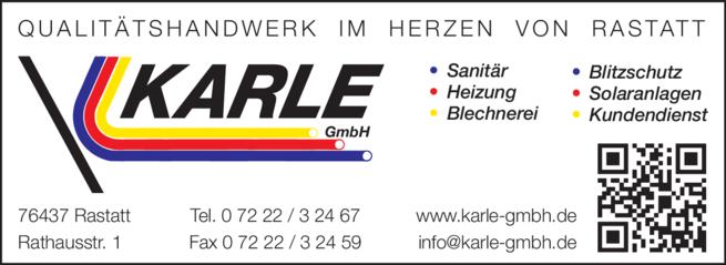 Anzeige Karle GmbH