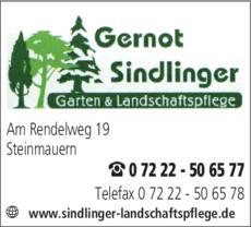 Anzeige Sindlinger Gernot
