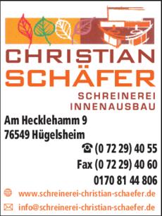 Anzeige Schäfer Christian