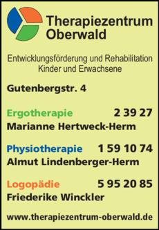 Anzeige Therapiezentrum Oberwald