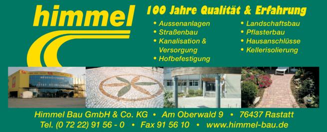 Anzeige Himmel Bau GmbH & Co. KG