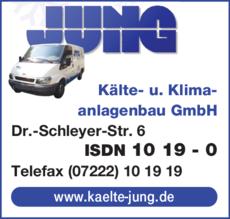 Anzeige Jung Kälte- und Klimaanlagenbau GmbH