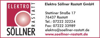 Anzeige Söllner Rastatt GmbH