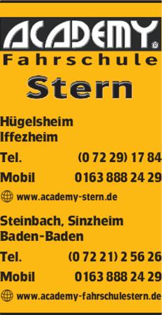 Anzeige Academy Stern Fahrschule