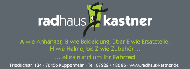 Anzeige Kastner Rad Haus
