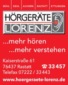 Anzeige Lorenz Hörgeräte