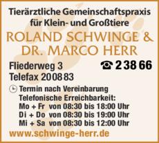 Anzeige Huemerlehner B. Dr. u. Schwinge R.
