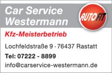 Anzeige Westermann, Kfz-Werkstatt Bosch Service