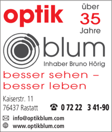 Anzeige Blum Optik