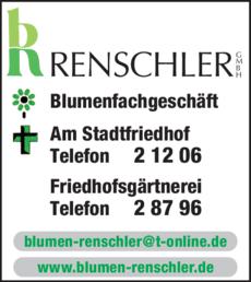 Anzeige Renschler GmbH Blumen