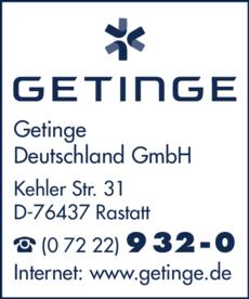 Anzeige Getinge Deutschland GmbH