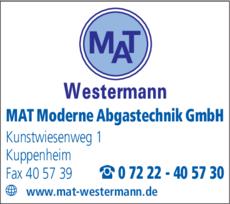 Anzeige MAT Moderne Abgastechnik GmbH