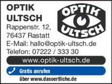 Anzeige Optik Ultsch GmbH
