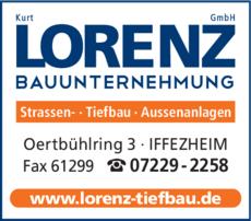 Anzeige Lorenz GmbH