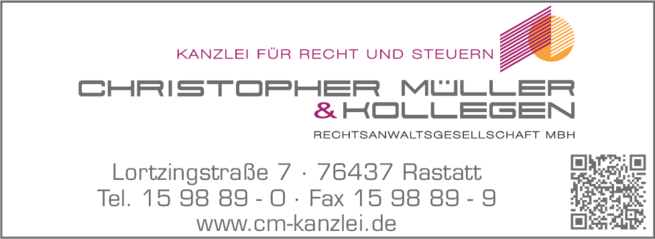 Anzeige Müller Christopher & Kollegen Rechtsanwaltsgesellschaft mbH