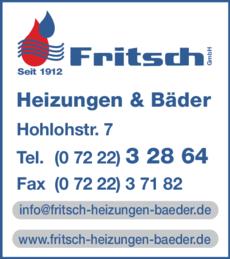 Anzeige Fritsch Heizungen & Bäder