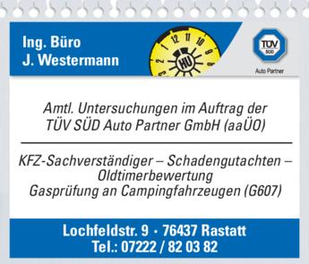 Anzeige Westermann J., Ing. Büro
