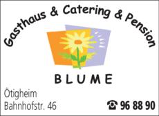 Anzeige Blume Gasthaus + Pension