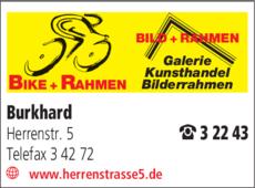 Anzeige Burkhard , Bild + Bike + Rahmen