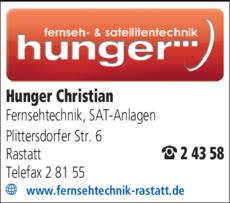 Anzeige Hunger Christian