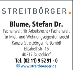 blume stefan dr rechtsanwalt in d sseldorf 0211952. Black Bedroom Furniture Sets. Home Design Ideas