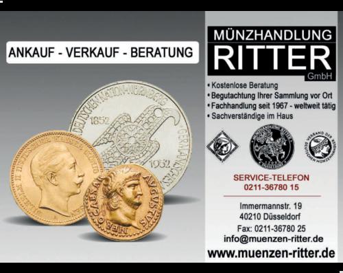 Münzhandlung Ritter Gmbh In Düsseldorf Stadtmitte Im Das