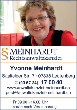 rechtsanwaltskanzlei meinhardt in leutenberg im das telefonbuch finden tel 036734 17 0. Black Bedroom Furniture Sets. Home Design Ideas