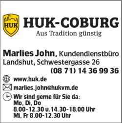 huk coburg kundendienstb ro marlies john in landshut. Black Bedroom Furniture Sets. Home Design Ideas