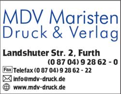 Mdv Maristen Druck U Verlag Gmbh In Furth Im Das Telefonbuch