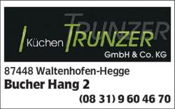 Kuchen Trunzer Gmbh Co Kg In Waltenhofen Hegge Im Das