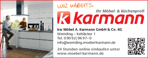 m bel karmann in wemding im das telefonbuch finden tel 09092 96. Black Bedroom Furniture Sets. Home Design Ideas