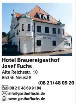 hotel brauereigasthof fuchs in neus 0821480. Black Bedroom Furniture Sets. Home Design Ideas