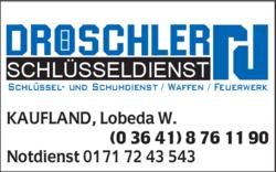 Dröschler Schlüsseldienst in Jena | 0364187