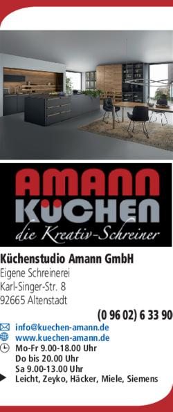 Kuchenstudio Amann Gmbh In Altenstadt Im Das Telefonbuch Finden