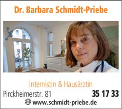 Anzeige Schmidt-Priebe Dr. Internistin