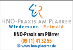 Anzeige HNO-Praxis am Plärrer