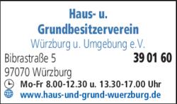 Haus Und Grundbesitzerverein Würzburg U Umgebung Ev In Würzburg